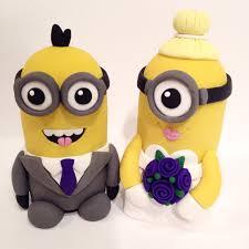 minion wedding cake topper minion wedding cake topper choose your colors