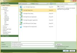 silverlight application template