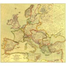 Europe Pre World War 1 Map by 1915 Europe Map With Africa And Asia Laminated National