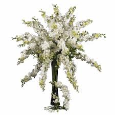 38 5 in h white delphinium stem set of 12 2128 wh the home depot