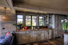 Western Style Kitchen Cabinets Barn Wood Cabinets Kitchen Rustic With Cabinets Exposed Beams