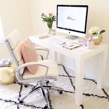 Pinterest Office Desk Simple But Beautiful Feminine Office Space Home Office