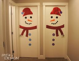 christmas door wrapping paper rudolph christmas