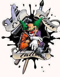 14 best evil clown tattoo drawings images on pinterest evil
