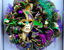 mardi gras mesh mardi gras wreath etsy