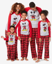 briefly stated mickey minnie mouse family pajama sets