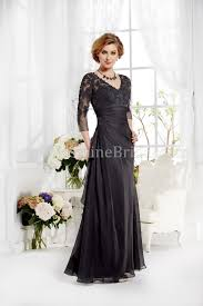 of the gowns j165012 v neck lace silky chiffon mob dress with sleeves