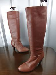 womens boots size 4 womens boots size 4 brown leather cuban heels knee high
