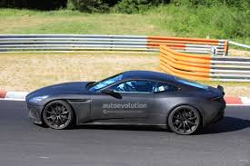 green aston martin db11 performance oriented 2018 aston martin db11 s spied at the