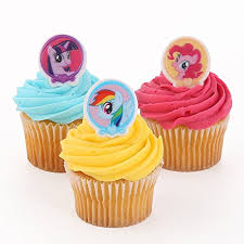 my pony cupcakes my pony cupcake rings 24 ct kitchen dining