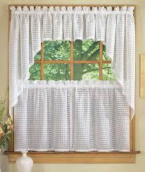 Kitchen Curtain Ideas Small Windows Splendid Curtain For Kitchen Window Designs With Gray Curtain For