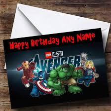 lego avengers personalised birthday card the card zoo