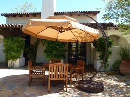 10 Foot Patio Umbrella Outdoor Garden 10 Ft Light Orange Cantilever Patio Umbrella