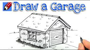 how to draw a garage in 3d real easy step by step youtube