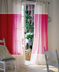 pink window curtains nursery curtains kids curtains
