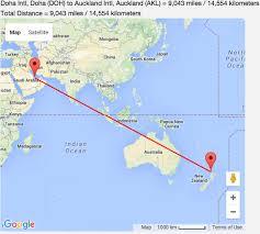 Doha Map Doha To Auckland Travel Tips