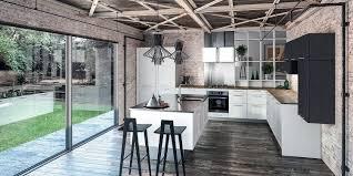 cuisine contemporaine blanche et bois cuisine contemporaine bois cuisine moderne cbel cuisines