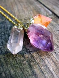 purple crystal stone necklace images Jewels jewelry crystal stone necklace pretty trendy purple jpg