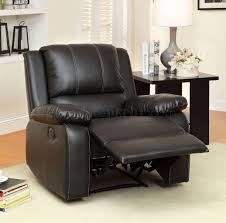 Black Reclining Sofa Reclining Sofa Cm6826 In Black Leather Match W Options