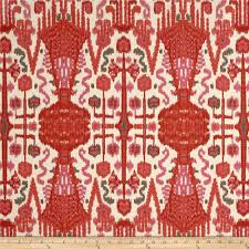 Bombay Home Decor by Lacefield Bombay Ikat Slub Geranium Discount Designer Fabric