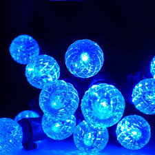 battery operated g12 led string lights blue