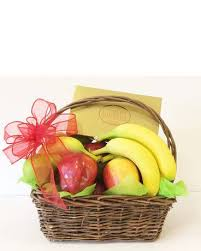 chocolate basket delivery fruit and chocolate basket in paw paw mi s florist and gifts