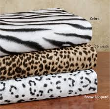 Cheetah Bedding 145 Gsm Cozy Spun Brushed Zebra Print Sheet Sets