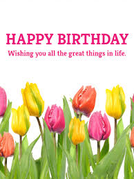 pink and yellow tulip birthday card birthday greeting cards by