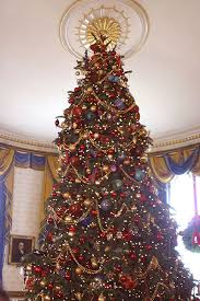 White House Christmas Ornament - the official white house christmas tree in the blue room of the