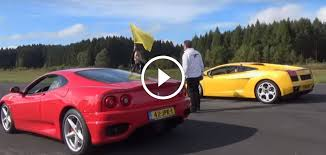 ferraris and lamborghinis 360 modena vs lamborghini gallardo race