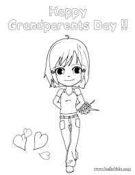 grandma painting coloring pages hellokids com