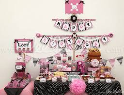 pirate birthday party birthday pirate girl pink black birthday party theme