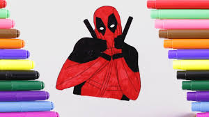 deadpool coloring kids coloring book