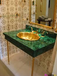 Gold Bathroom Ideas What S Hot Now Emerald Green Malachite Bathroom Pinterest