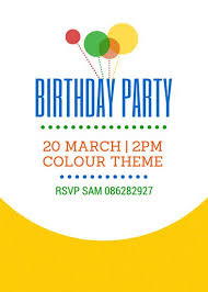 informal invitation birthday party birthday invitation templates canva