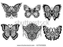 butterfly sticker design free vector stock