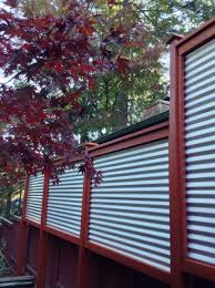 new corrugated metal fence for privacy screen between houses i