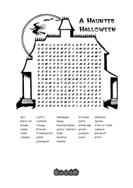 collections of halloween word search printable worksheets
