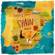 Map Of Spain With Cities by Spain Map Illustrations Map Illustrations Pinterest Map