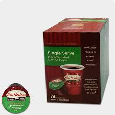 tim hortons premium decaf blend coffee single serve cups k cup