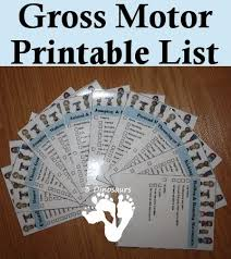 free gross motor printable list 3dinosaurs activities for