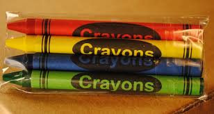 premium 4 pack restaurant crayons green blue red yellow