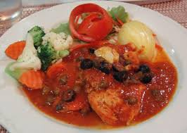italian olives chicken breast in tomato sauce with olives capers picture of