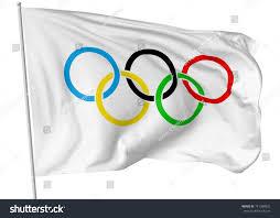 Olimpics Flag October 25 2017 3d Illustration Olympic Stock Illustration