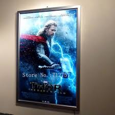 lighted movie poster frame wholesale home theater a1 led movie poster frames aluminum frame