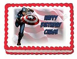 captain america cake topper captain america edible cake topper decoration cake