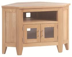 Oak Tv Cabinets With Glass Doors Furniture Oak Corner Entertainment Center With Open Shelf And
