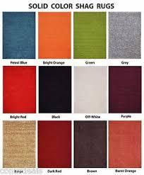 Burnt Orange Shag Rug Premium Solid Color Shag Area Rug Red Orange Grey Brown Green