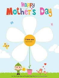 mother u0027s day free printable children u0027s craft downloadable online