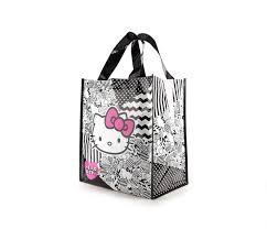 hello kitty reusable shopping bag monotone collection sanrio